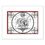 TV Test Pattern Indian Chief Small Poster