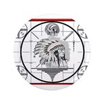 """TV Test Pattern Indian Chief 3.5"""" Button"""
