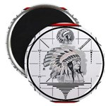 TV Test Pattern Indian Chief Magnet