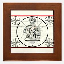 TV Test Pattern Indian Chief Framed Tile