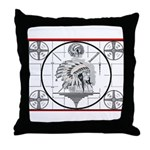 TV Test Pattern Indian Chief Throw Pillow