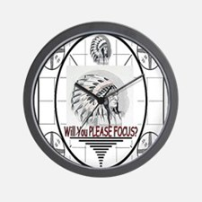 TV Test Pattern Indian Chief Wall Clock