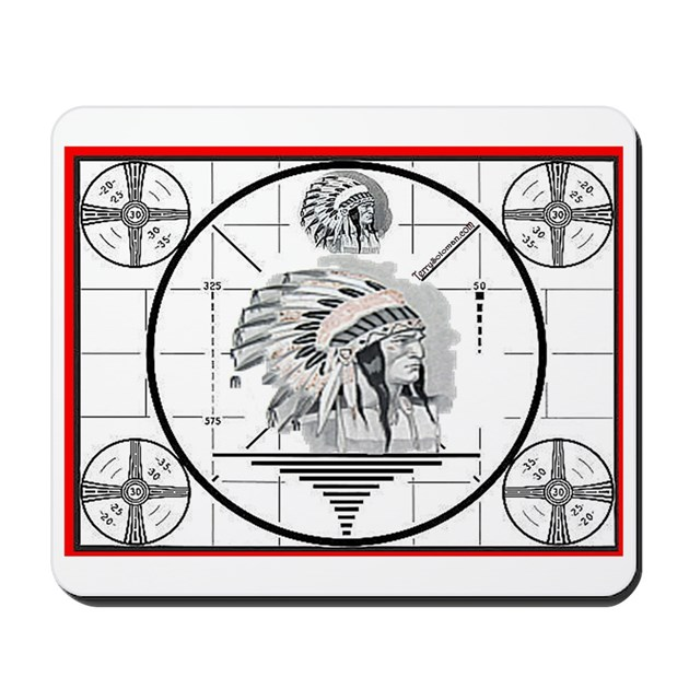 TV Test Pattern Indian Chief Mousepad by tv_testpattern