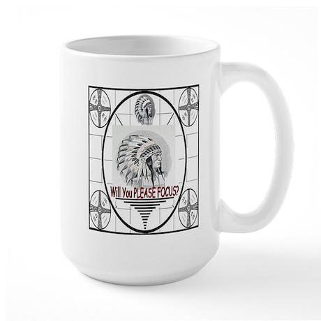 TV Test Pattern Indian Chief Large Mug