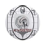 TV Test Pattern Indian Chief Ornament (Round)