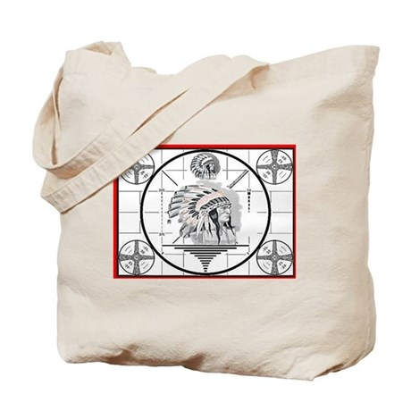 TV Test Pattern Indian Chief Tote Bag
