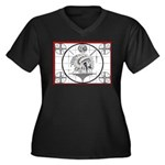 TV Test Pattern Indian Chief Women's Plus Size V-N