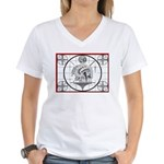 TV Test Pattern Indian Chief Women's V-Neck T-Shir