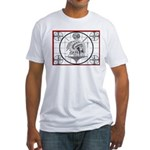 TV Test Pattern Indian Chief Fitted T-Shirt