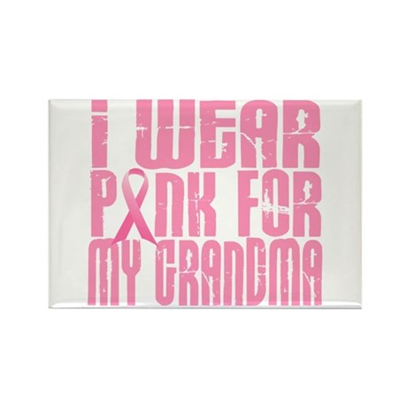 I Wear Pink For My Grandma 16 Rectangle Magnet
