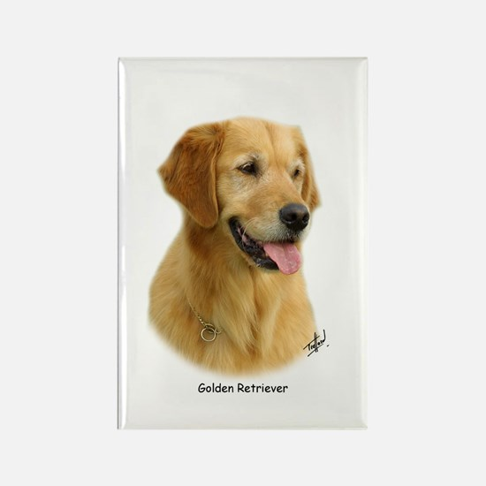 Golden Retriever 9K011D-08 Rectangle Magnet