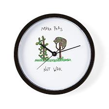 Funny Make art not war Wall Clock