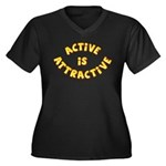 Active Is Attractive Women's Plus Size V-Neck Dark