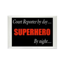 Court Reporter Rectangle Magnet