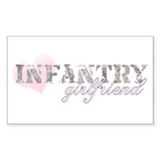 Infantry Girlfriend Rectangle Decal