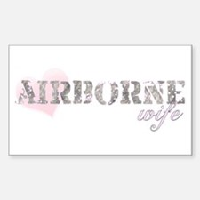 Airborne Wife Rectangle Decal