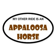 My Other Ride Appaloosa Horse Oval Decal
