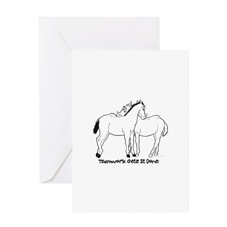 Teamwork Gets It Done! Greeting Card
