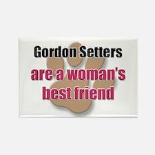 Gordon Setters woman's best friend Rectangle Magne