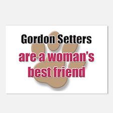 Gordon Setters woman's best friend Postcards (Pack