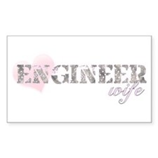Engineer Wife Rectangle Decal