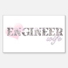 Engineer Wife Rectangle Decal