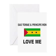 Sao Tomae & Principe Men Love Me Greeting Card