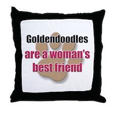 Goldendoodles woman's best friend Throw Pillow