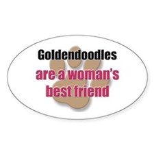Goldendoodles woman's best friend Oval Decal