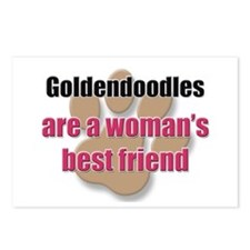 Goldendoodles woman's best friend Postcards (Packa