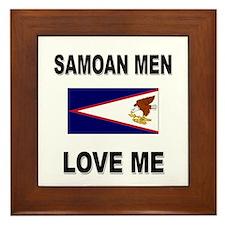 Samoan Men Love Me Framed Tile