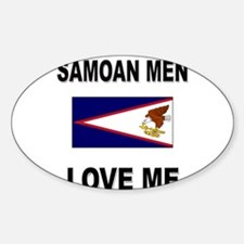 Samoan Men Love Me Oval Decal