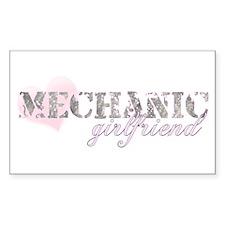 Mechanic Girlfriend Rectangle Decal