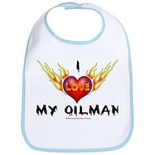 I Love My Oilman Bib