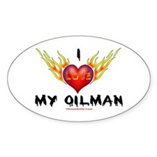 I Love My Oilman Oval Bumper Stickers