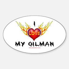 I Love My Oilman Oval Decal