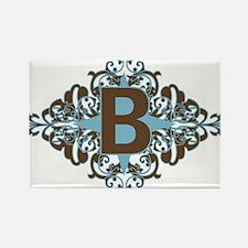 B Monogram Letter B Rectangle Magnet