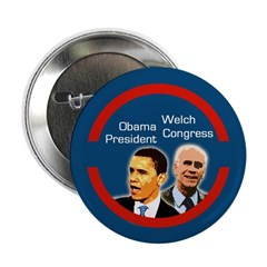 Barack Obama Peter Welch political button