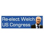 Re-elect Peter Welch Bumper Sticker