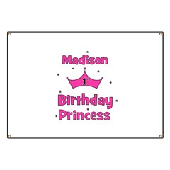 1st Birthday Princess Madison Banner