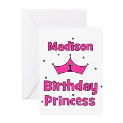1st Birthday Princess Madison Greeting Card