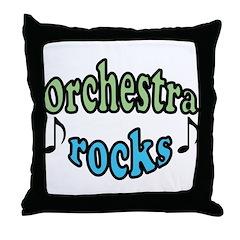 Orchestra Rocks Throw Pillow