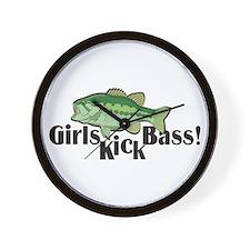 Girls Kick Bass! Wall Clock