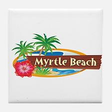 Classic Myrtle Beach - Tile Coaster
