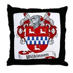 Wilkinson Family Crest Throw Pillow