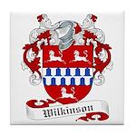 Wilkinson Family Crest Tile Coaster