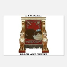 Typical Black & White Cat Postcards (Package of 8)