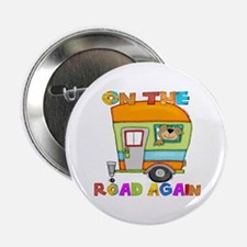 "On the road again 2.25"" Button"