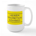 Viewer Discretion Advised Large Mug