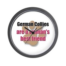 German Collies woman's best friend Wall Clock